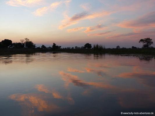 Botswana - Okavango Delta im Abendlicht