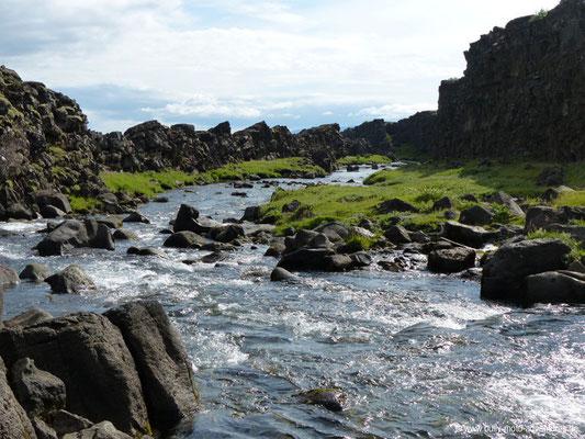 Island - Þingvellir Nationalpark - Wasserfall Öxarárfoss