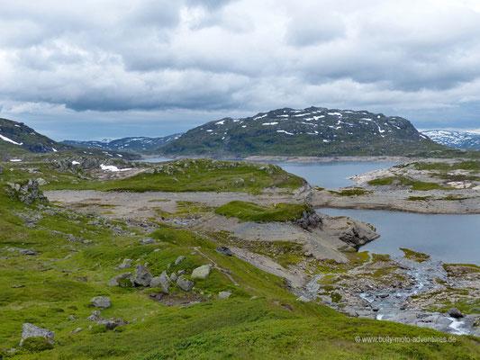 Norwegen - Straße E134 beim Hardangervidda Plateau