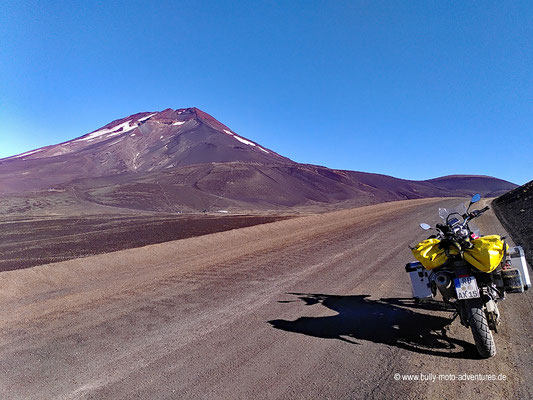 Chile - Reserva Nacional Nalcas - Straße R-785 - Fahrt zum Crater Navidad