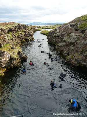 Island - Þingvellir Nationalpark - Silfra-Spalte