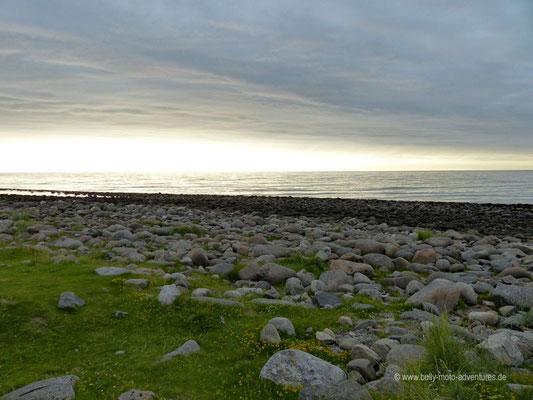 Norwegen - Lofoten - Sonnenuntergang in Unstad