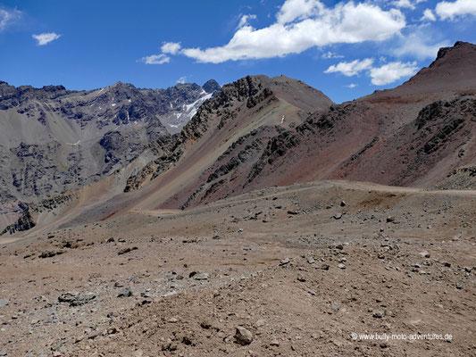 Chile - Straße E-773 - Paso de la Cumbre