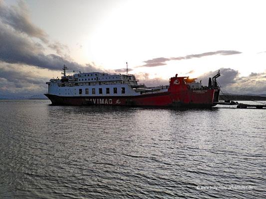 Chile - Fährfahrt von Puerto Natales nach Puerto Montt - Boarding am Vorabend