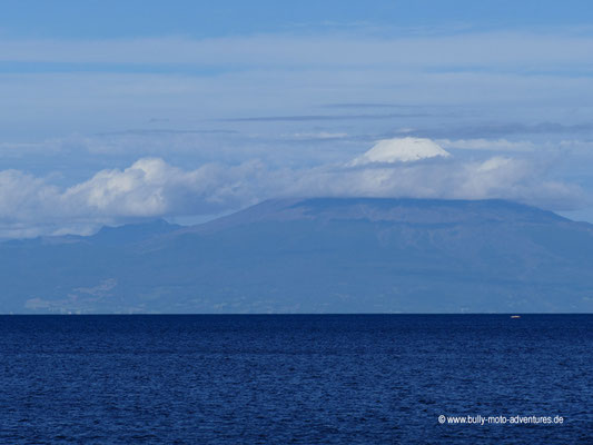 Chile - Frutillar - Blick über den Lago Llanquihue auf den Vulkan Osorno