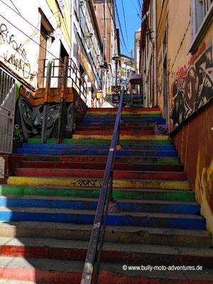 Chile - Valparaíso - Bunte Treppe