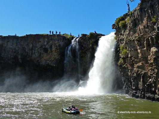 Mongolei - Wasserfall Orkhon Khürkhree