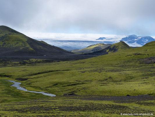 Island - Laugavegur - Blick auf Gletscher