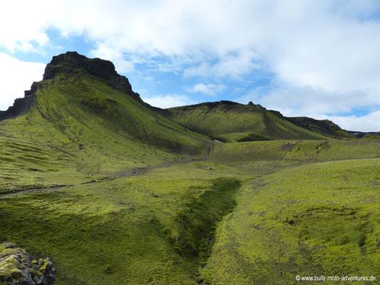 Island - Fimmvörðuháls - Urlandschaft Goðaland