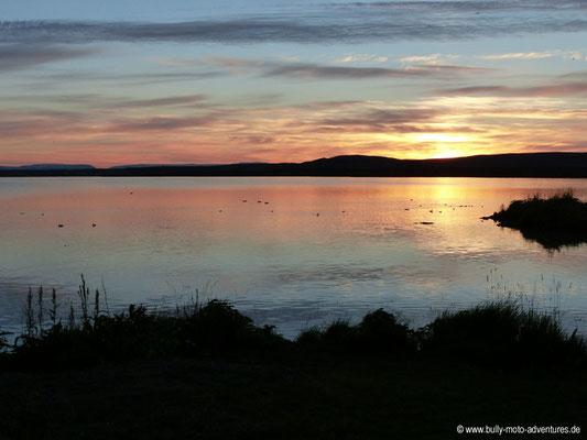 Island - Sonnenuntergang am Mývatn