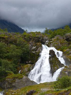 Norwegen - Jostedalsbreen Nationalpark - Wanderung zum Gletscher Brikdalsbreen