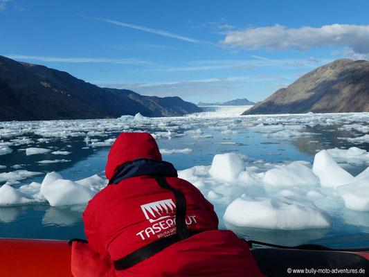 Blick auf den Qooroq Gletscher