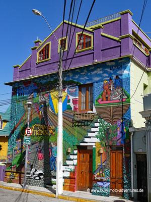 Chile - Valparíso - Bunte Häuser