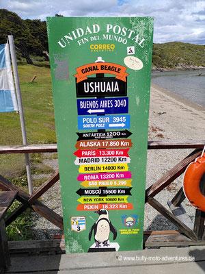 Argentinien - Parque Nacional Tierra del Fuego - Poststation am Ende der Welt