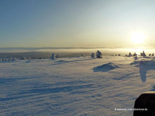 Finnland - Lappland - Auf Schneemobil-Safari - Schöne Winterlandschaft