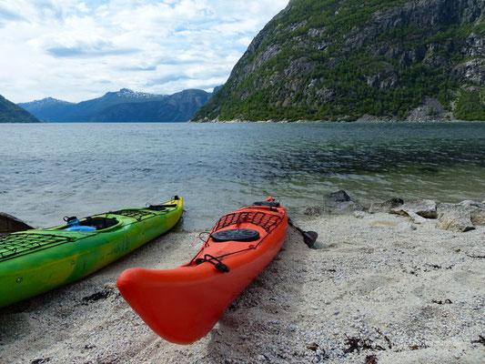 Norwegen - Eidfjord - Kajaktour