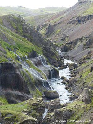 Island - Wanderweg vom Skógafoss nach Þórsmörk