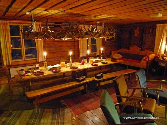 Finnland - Lappland - Auf Husky-Safari - Gemütliche Unterkunft