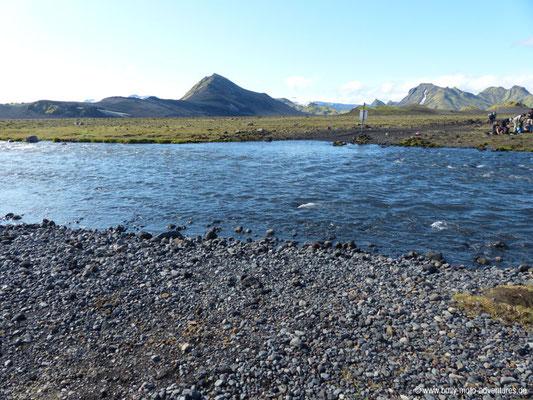 Island - Laugavegur - Etappe 3 - Álftavatn nach Emstrur - 2. Furt