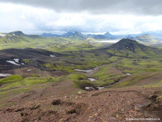 Island - Laugavegur - Etappe 2 - Hrafntinnusker nach Álftavatn - Blick auf den See Álftavatn