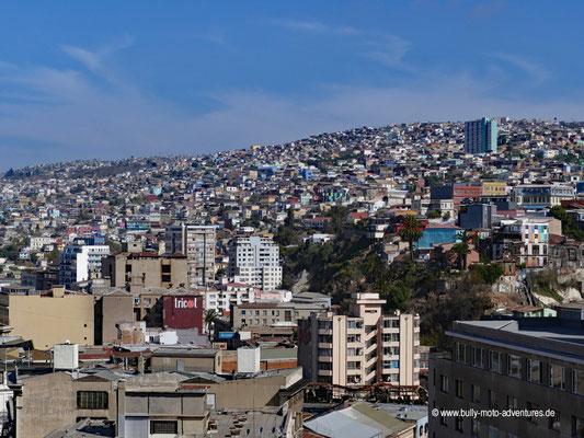 Chile - Valparaíso - Blick auf die Stadt