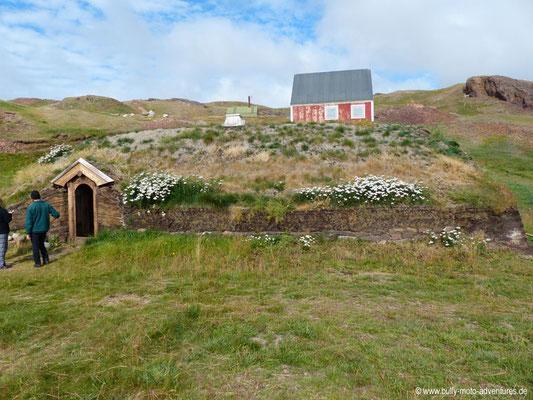 Grönland - Brattahlíð - Langhaus-Rekonstruktion