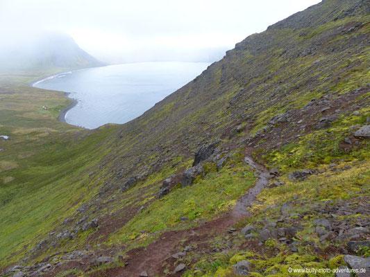 Island - Hornstrandir - Abstieg nach Hlöðuvík