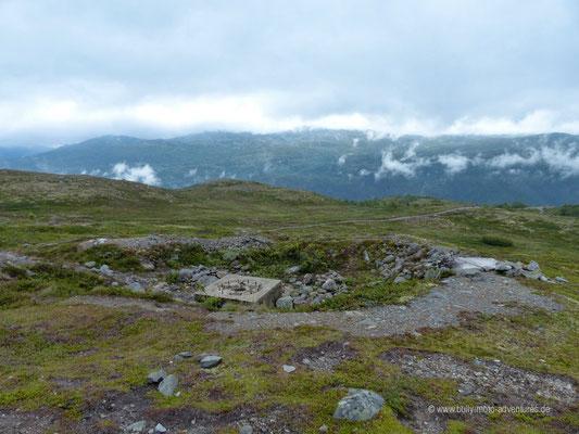 Norwegen - Hardangervidda-Plateau bei Rjukan - Überreste einer deutschen Kanonenstellung aus dem 2. Weltkrieg