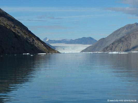 Grönland - Blick auf den Gletscher Qooroq