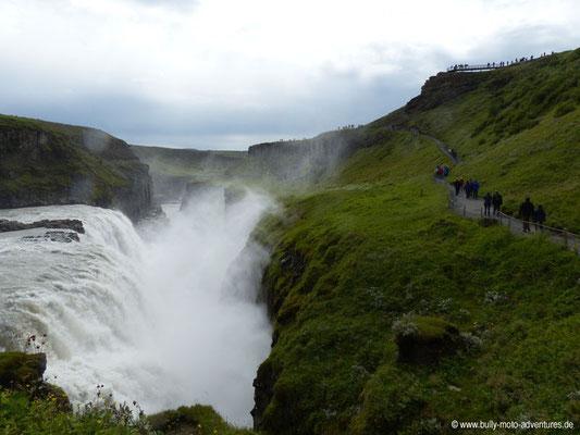 Island - Wasserfall Gullfoss