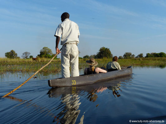 Botswana - Okavango Delta - Fahrt im Mokoro