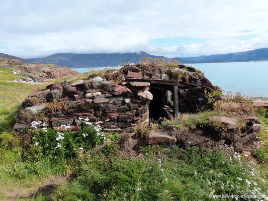 Grönland - Brattahlíð - Inuit-Winterhaus