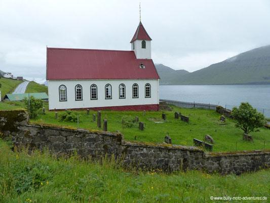 Färöer Inseln - Kunoy - Kirche in Kunoy