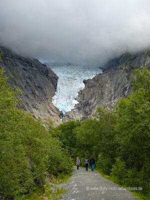 Norwegen - Jostedalsbreen Nationalpark - Brikdalsbreen Gletscher
