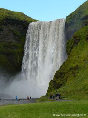 Island - Fimmvörðuháls - Etappe 2 - Fimmvörðuskáli nach Skógafoss - Skógafoss