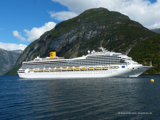 Norwegen - Geirangerfjord - Bootsfahrt