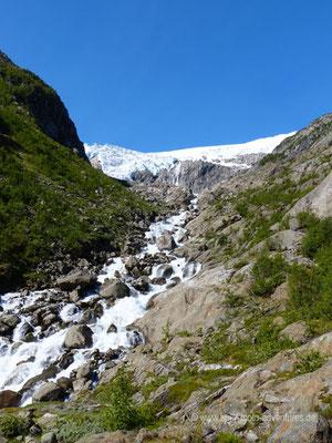 Norwegen - Blick auf den Buarbreen Gletscher