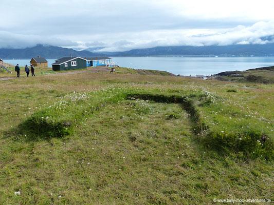 Grönland - Brattahlíð - Überreste von Tjodhilds Kirche