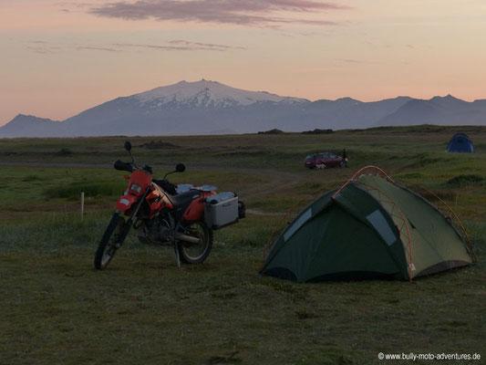 Island - Snæfellsnes - Campingplatz Langaholt