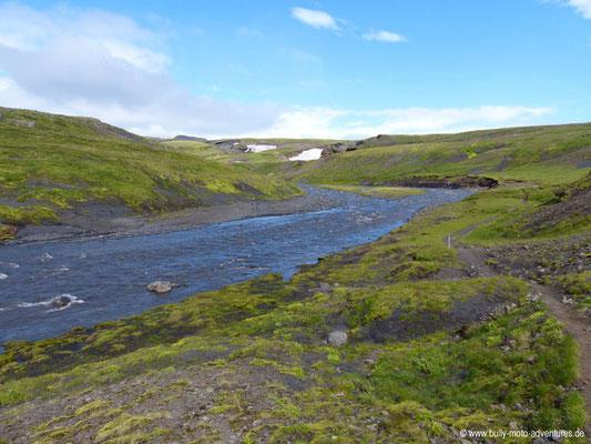 Island - Fimmvörðuháls - Fluss Skóga