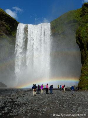Island - Wasserfall Skógafoss