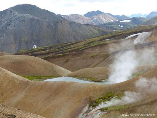 Island - Laugavegur - Dampffahnen