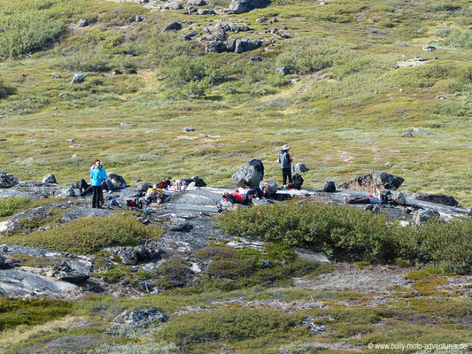 Grönland - Wanderung von Tasiusaq nach Nuugaarsuk - Picknick