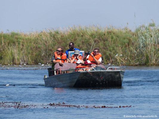 Botswana - Okavango Delta - Fahrt im Speed Boat