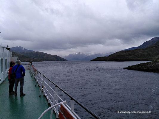 Chile - Fährfahrt von Puerto Natales nach Puerto Montt - Tag 1