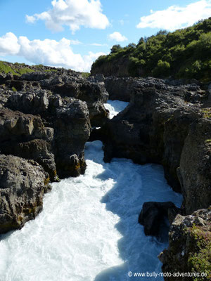 Island - Wasserfall Barnafoss