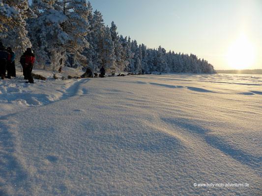 Finnland - Lappland - Auf Husky-Safari - Schöne Winterlandschaft