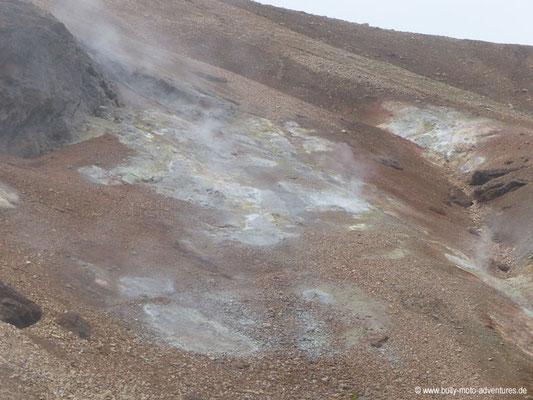 Island - Landmannalaugar - Fumarolen