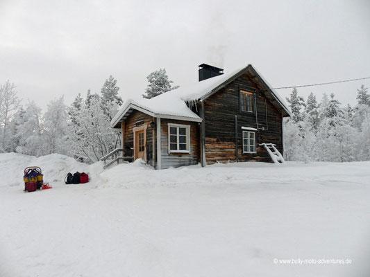 Finnland - Lappland - Auf Husky-Safari - Unterkunft