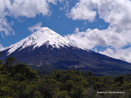 Chile - Saltos del Río Petrohué - Blick auf den Vulkan Osorno